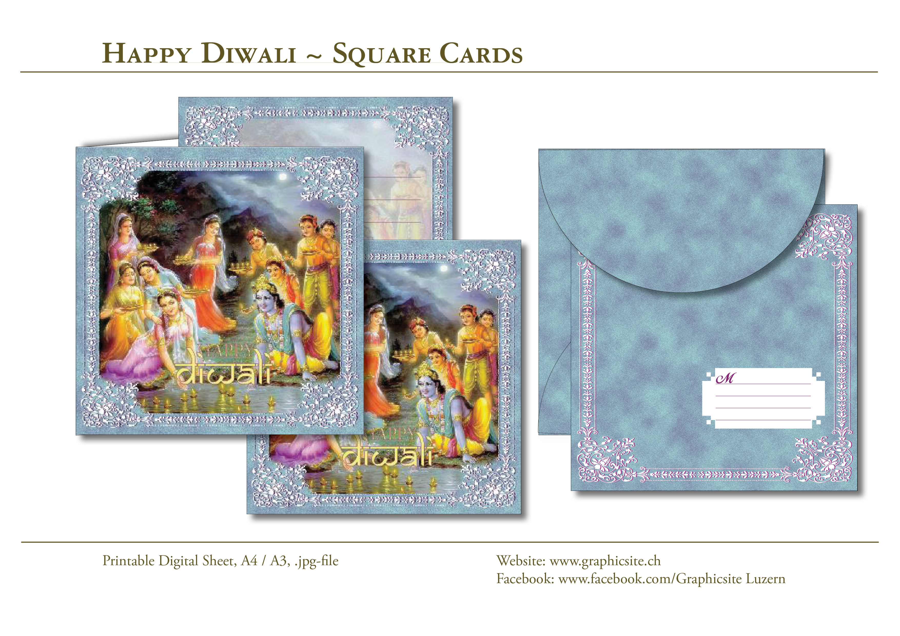 Printable Digital Sheets - Card Collections - India - Diwali - #cards, #printables, #download, #greetingcards, #invites, #graphicdesign, #luzern, #schweiz,