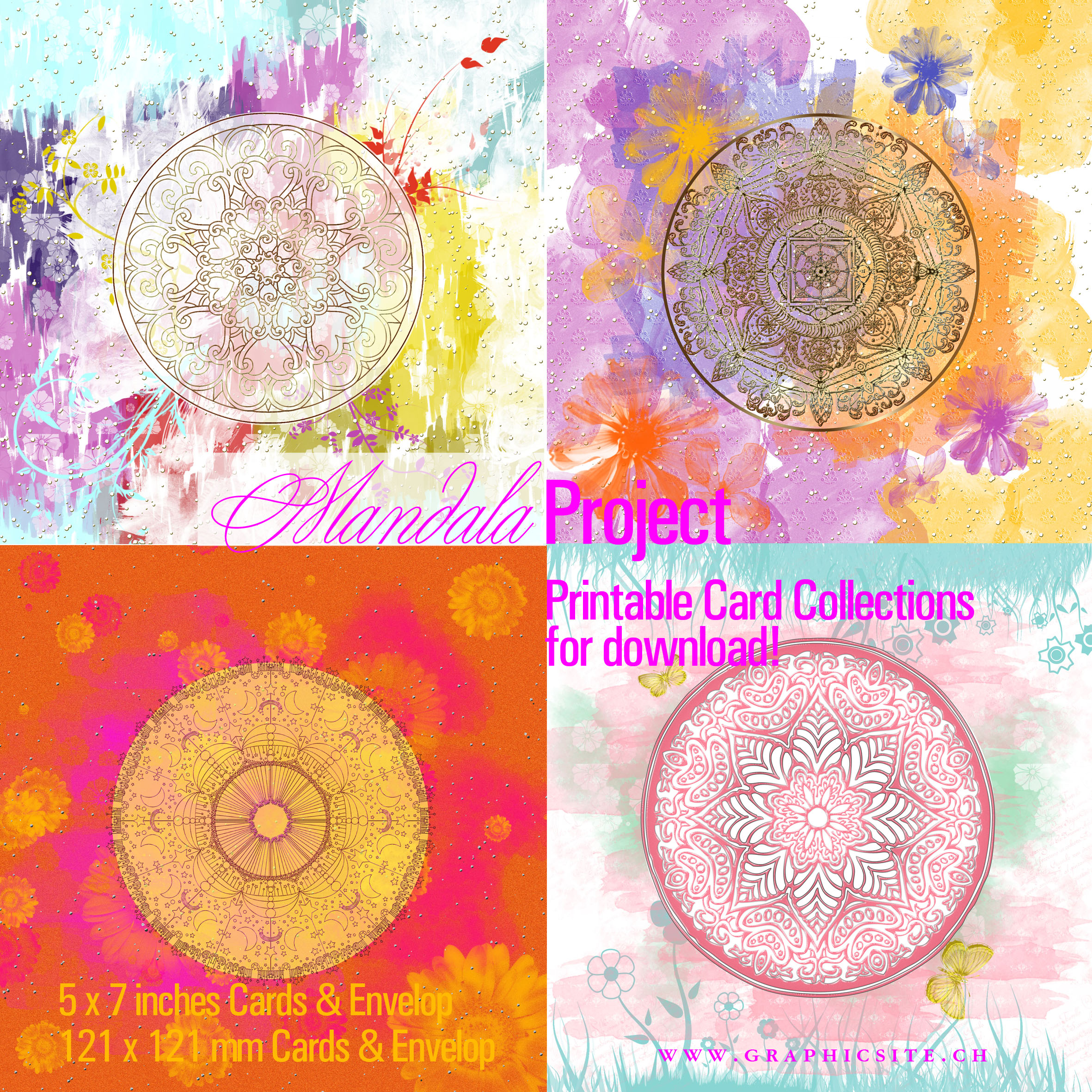MANDALA - Project, Greeting Cards